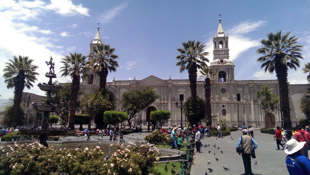 Das Zentrum von Arequipa