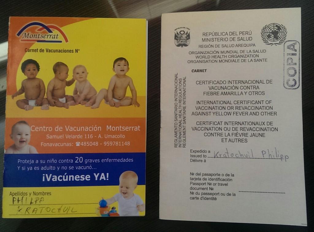 Links der kindergartenausweis, rechts mein neues Stempelsammelalbum