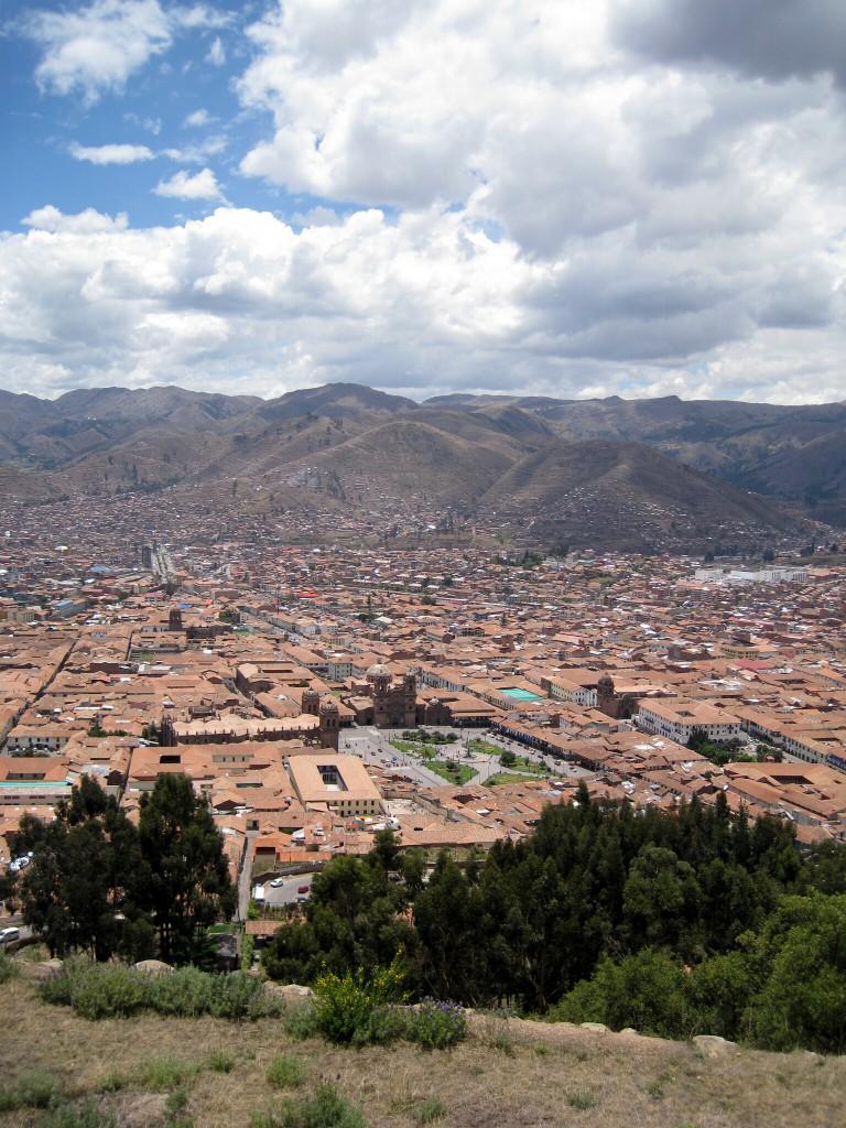 Das ist Cusco von oben...
